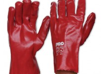 Red PVC Glove – Short – PVC27